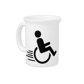 El competir con de la silla de ruedas