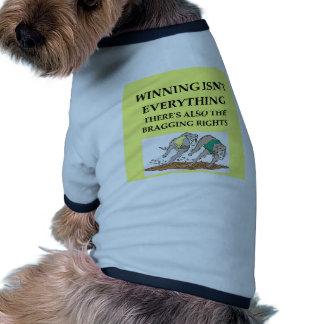 el competir con de perro camiseta de mascota