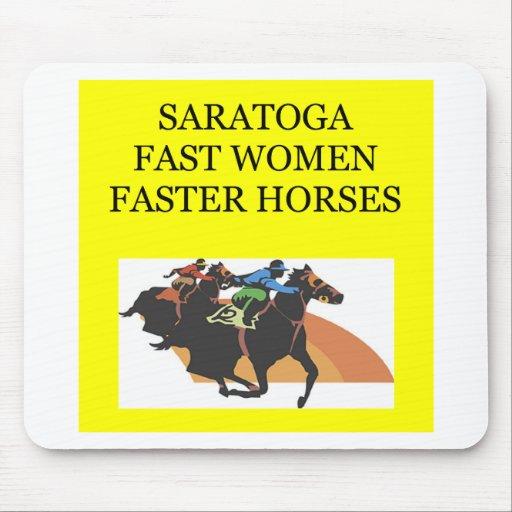 El competir con de SARATOGA Tapete De Ratones