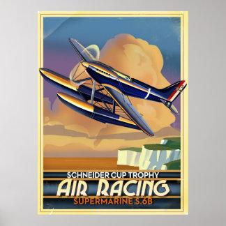 El competir con del aire poster