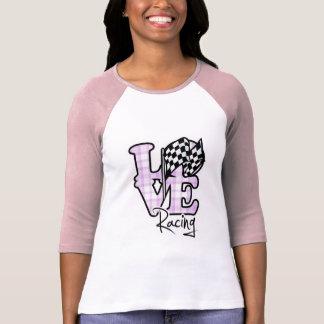El competir con del amor Bandera a cuadros Camiseta