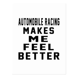 El competir con del automóvil hace que siente mejo postal