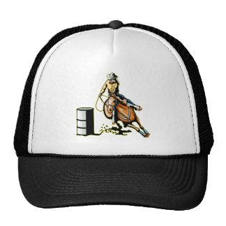 El competir con del barril del caballo gorra