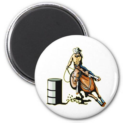 El competir con del barril del caballo imán redondo 5 cm