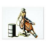El competir con del barril del caballo invitacion personal