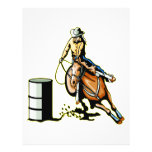 El competir con del barril del caballo tarjetón