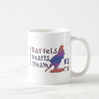 EL COMPETIR CON DEL BARRIL DEL CHICA TAZAS DE CAFÉ