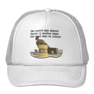 El competir con del barril, diverso gorras de camionero