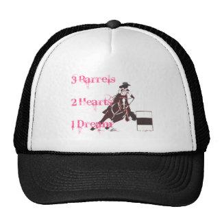 El competir con del barril gorras