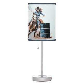El competir con del barril lámpara de escritorio