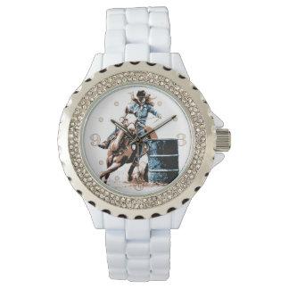 El competir con del barril reloj de mano
