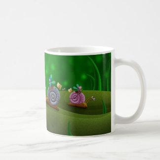 El competir con del caracol taza de café