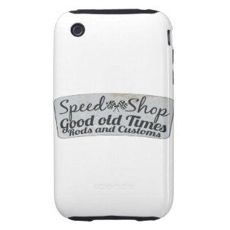 El competir con del coche de carreras tough iPhone 3 coberturas