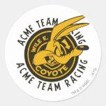 El competir con del equipo de E. Coyote Acme del Pegatina Redonda