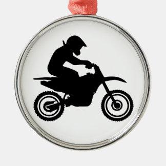 El competir con del motocrós ornamente de reyes
