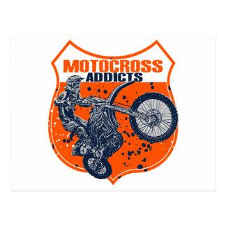 El competir con del motocrós postal