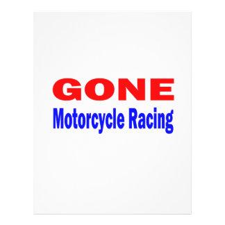 El competir con ido de la motocicleta plantilla de membrete