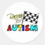 El competir con para los pegatinas del autismo pegatinas redondas