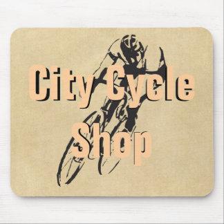 El competir con personalizado tienda de la bici de alfombrillas de raton