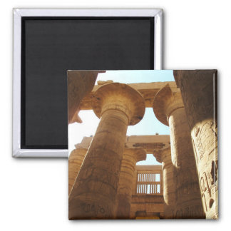 El complejo del templo de Karnak en Thebes, Egipto Imán Cuadrado