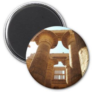 El complejo del templo de Karnak en Thebes, Egipto Imán Redondo 5 Cm