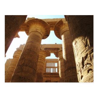 El complejo del templo de Karnak en Thebes, Egipto Postales