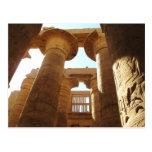 El complejo del templo de Karnak en Thebes, Egipto Postal
