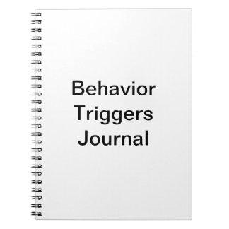 El comportamiento acciona el diario libretas