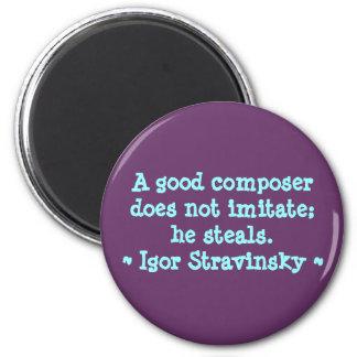 El compositor divertido cita el imán - Stravinsky