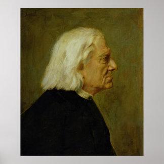 El compositor Franz Liszt, 1884 Póster