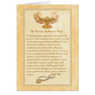 El compromiso de Florence Nightingale Tarjeta De Felicitación