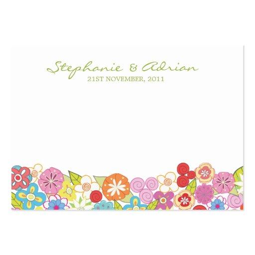 El compromiso de la flor de la primavera le agrade tarjeta personal