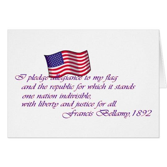 El compromiso de la lealtad - 1892 tarjeta de felicitación
