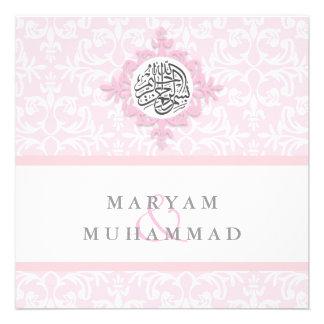 El compromiso del boda del damasco del Islam islám Invitaciones Personalizada
