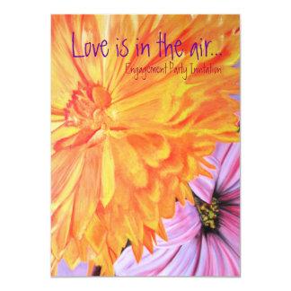 """El compromiso floral del amor del país rústico invitación 4.5"""" x 6.25"""""""
