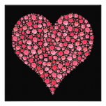 El compromiso invita al corazón ideal rosado negro anuncio personalizado