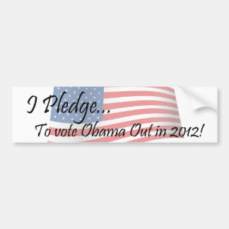 El compromiso - voto de Obama Etiqueta De Parachoque