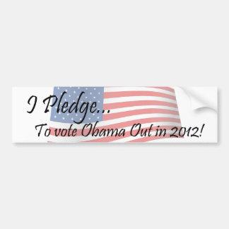 El compromiso - voto de Obama Pegatina Para Auto