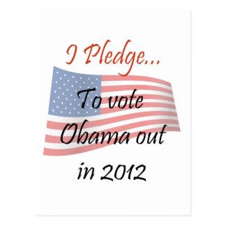El compromiso - voto de Obama Postales