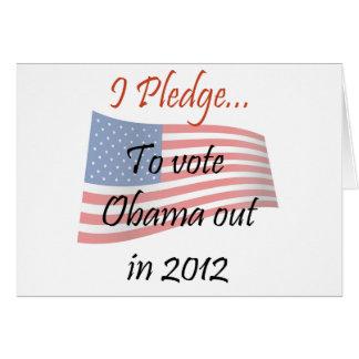 El compromiso - voto de Obama Tarjeta De Felicitación