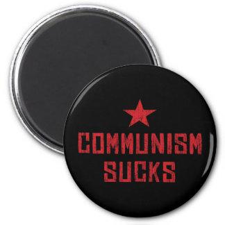 El comunismo chupa imán redondo 5 cm