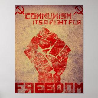 El comunismo es una lucha póster