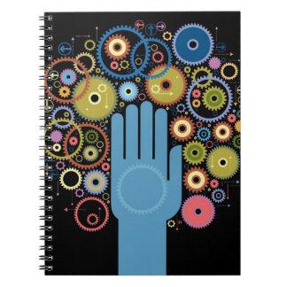El concepto de movimiento libro de apuntes con espiral