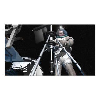El concepto del artista de exploración espacial fu arte fotográfico