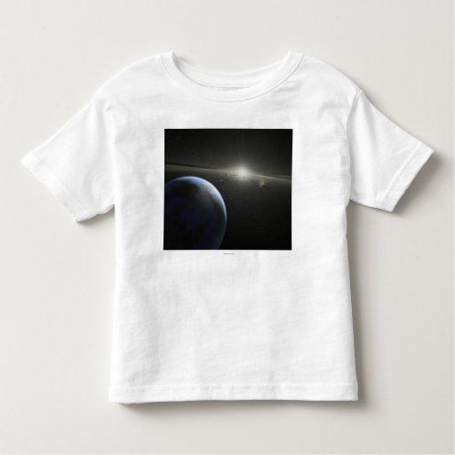 El concepto del artista de una fotografía astroide playera de bebé
