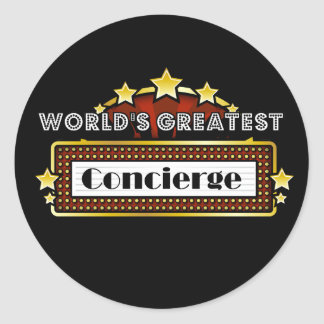 El Concierge más grande del mundo Pegatina Redonda