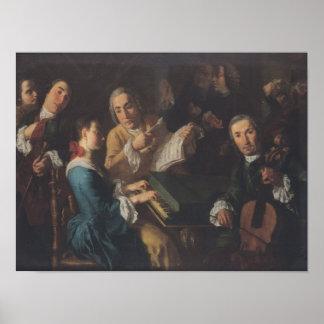 El concierto, c.1755 impresiones
