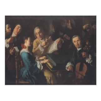 El concierto, c.1755 postal