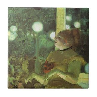 El concierto de Edgar Degas, bella arte del café Azulejo Cuadrado Pequeño