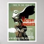 El concierto de la victoria resolvió NYC WPA 1938 Posters